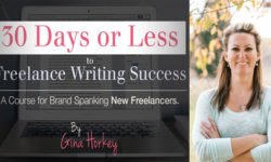 30 Days or Less to Freelance Writing Success - Gina Horkey Interview