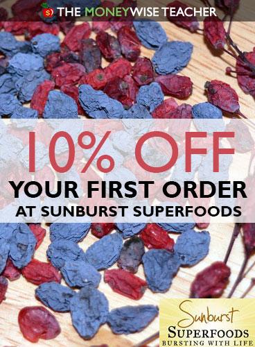 10% Off Sunburst Superfoods Educator Discount