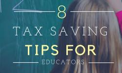8 Tax Savings Tips for Teachers